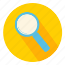 exam, glass, magnifier, magnifying, search, view icon