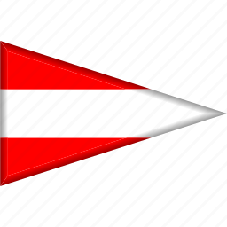 austria, country, flag, national, pennant, triangle icon