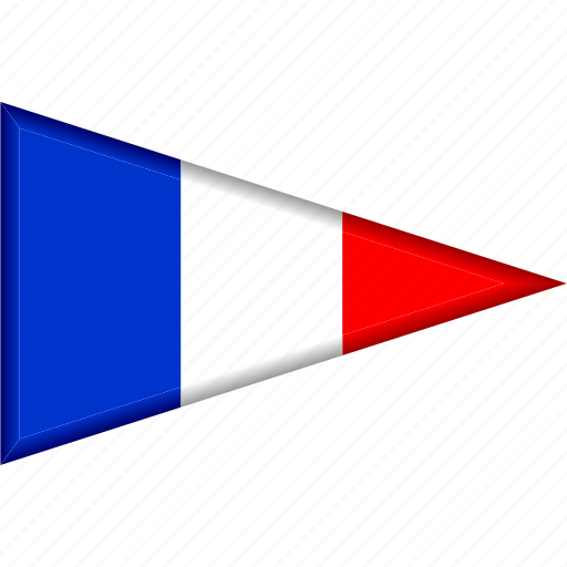 country, flag, france, national, pennant, triangle icon