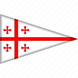 country, flag, georgia, national, pennant, triangle icon