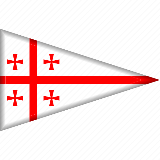 Country, flag, georgia, national, pennant, triangle icon - Download on Iconfinder