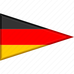 country, flag, germany, national, pennant, triangle icon