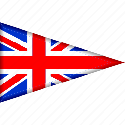 country, flag, great britain, national, pennant, triangle icon