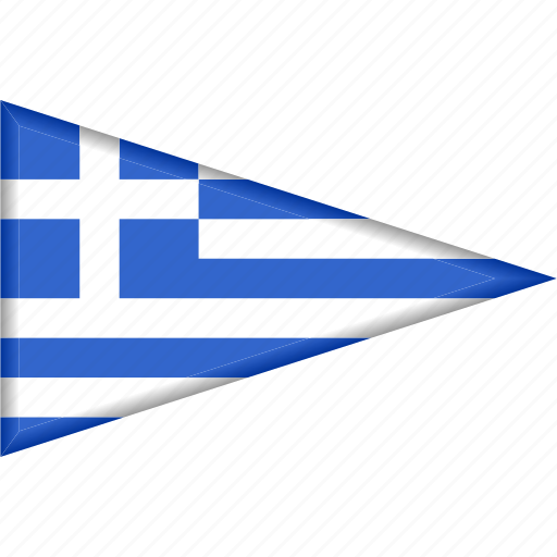 country, flag, greece, national, pennant, triangle icon