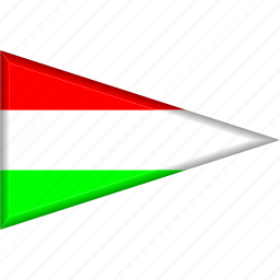 country, flag, hungary, national, pennant, triangle icon