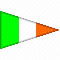 country, flag, ireland, national, pennant, triangle icon