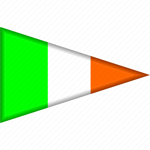 Country, flag, ireland, national, pennant, triangle icon - Download on Iconfinder