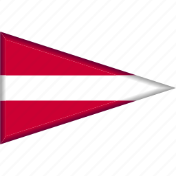 country, flag, latvia, national, pennant, triangle icon