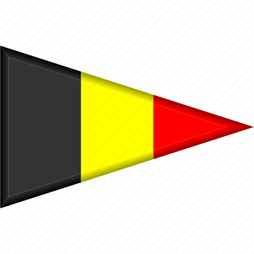 belgium, country, flag, national, pennant, triangle icon