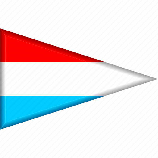 country, flag, luxembourg, national, pennant, triangle icon