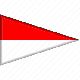 country, flag, monaco, national, pennant, triangle icon