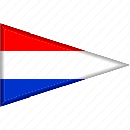 country, flag, national, netherlands, pennant, triangle icon