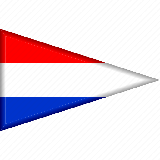 Country, flag, national, netherlands, pennant, triangle icon - Download on Iconfinder