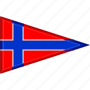 country, flag, national, norway, pennant, triangle