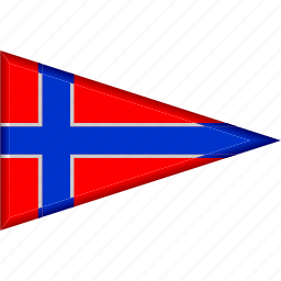 country, flag, national, norway, pennant, triangle icon