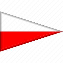 country, flag, national, pennant, poland, triangle icon