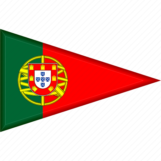 country, flag, national, pennant, portugal, triangle icon
