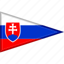 country, flag, national, pennant, slovakia, triangle