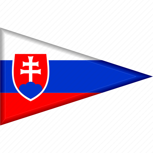 country, flag, national, pennant, slovakia, triangle icon