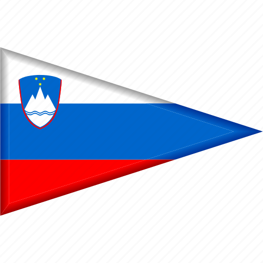 country, flag, national, pennant, slovenia, triangle icon