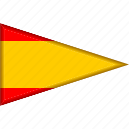 country, flag, national, pennant, spain, triangle icon