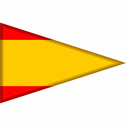 Country, flag, national, pennant, spain, triangle icon - Download on Iconfinder