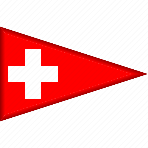 Country, flag, national, pennant, switzerland, triangle icon - Download on Iconfinder