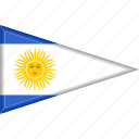 argentina, country, flag, national, pennant, triangle