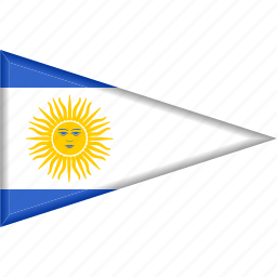 argentina, country, flag, national, pennant, triangle icon