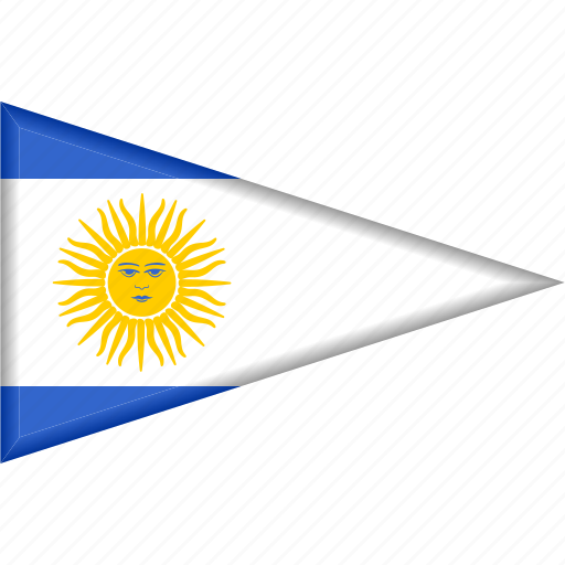 Argentina, country, flag, national, pennant, triangle icon - Download on Iconfinder