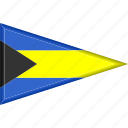 bahamas, country, flag, national, pennant, triangle