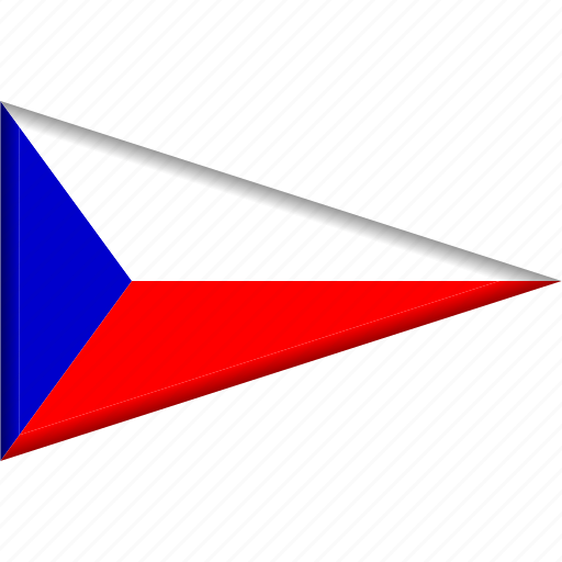 Country, czech republic, flag, national, pennant, triangle icon - Download on Iconfinder