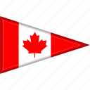 canada, country, flag, national, pennant, triangle