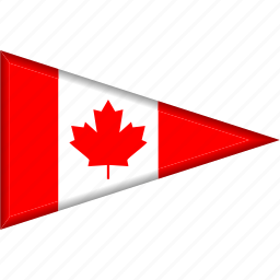 canada, country, flag, national, pennant, triangle icon
