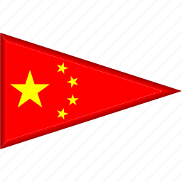 china, country, flag, national, pennant, triangle icon