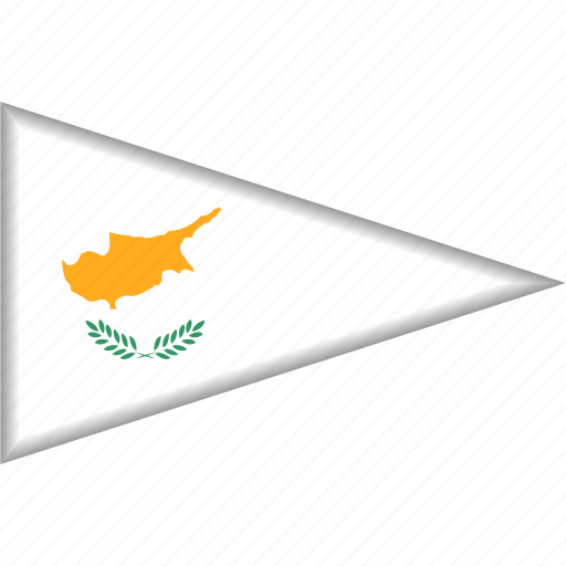 Country, cyprus, flag, national, pennant, triangle icon - Download on Iconfinder