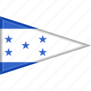 country, flag, honduras, national, pennant, triangle
