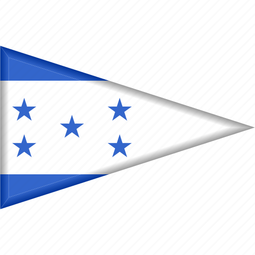 country, flag, honduras, national, pennant, triangle icon