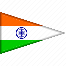 country, flag, india, national, pennant, triangle icon