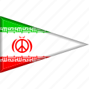 country, flag, iran, national, pennant, triangle