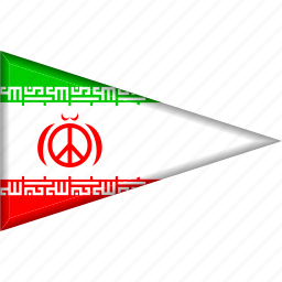 country, flag, iran, national, pennant, triangle icon