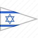 country, flag, israel, national, pennant, triangle