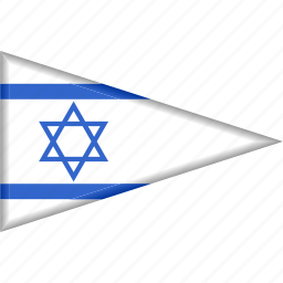 country, flag, israel, national, pennant, triangle icon