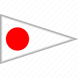 country, flag, japan, national, pennant, triangle icon
