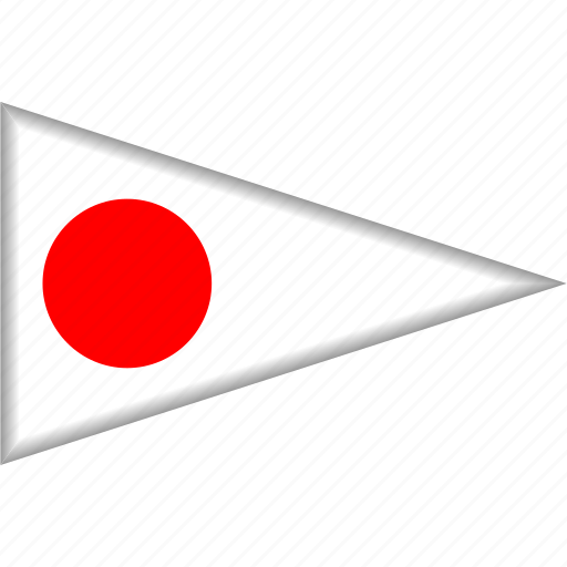 Country, flag, japan, national, pennant, triangle icon - Download on Iconfinder