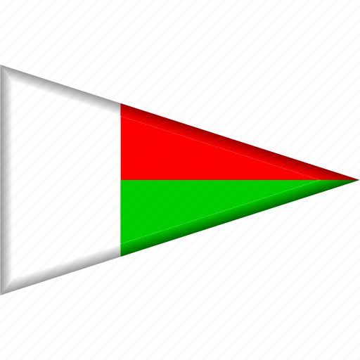 Country, flag, madagascar, national, pennant, triangle icon - Download on Iconfinder