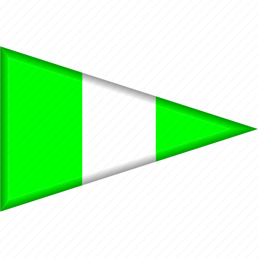 country, flag, national, nigeria, pennant, triangle icon