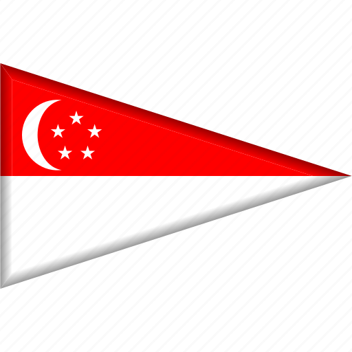 Country, flag, national, pennant, singapore, triangle icon - Download on Iconfinder