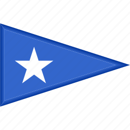 country, flag, national, pennant, somalia, triangle icon