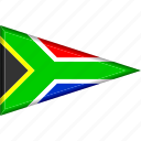 country, flag, national, pennant, south africa, triangle